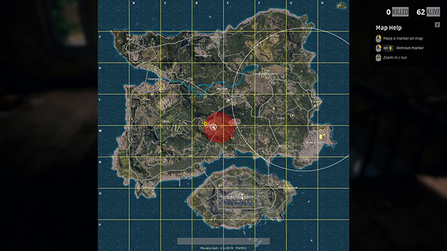 In-Game Screenshot of PUBG player caught in Red Zone