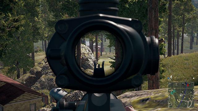 In-Game Screenshot of 4x Scope ADS in PUBG