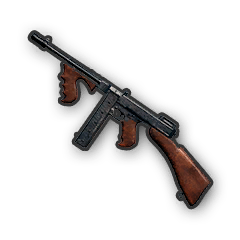 In-game image of PUBG Weapon Tommy Gun