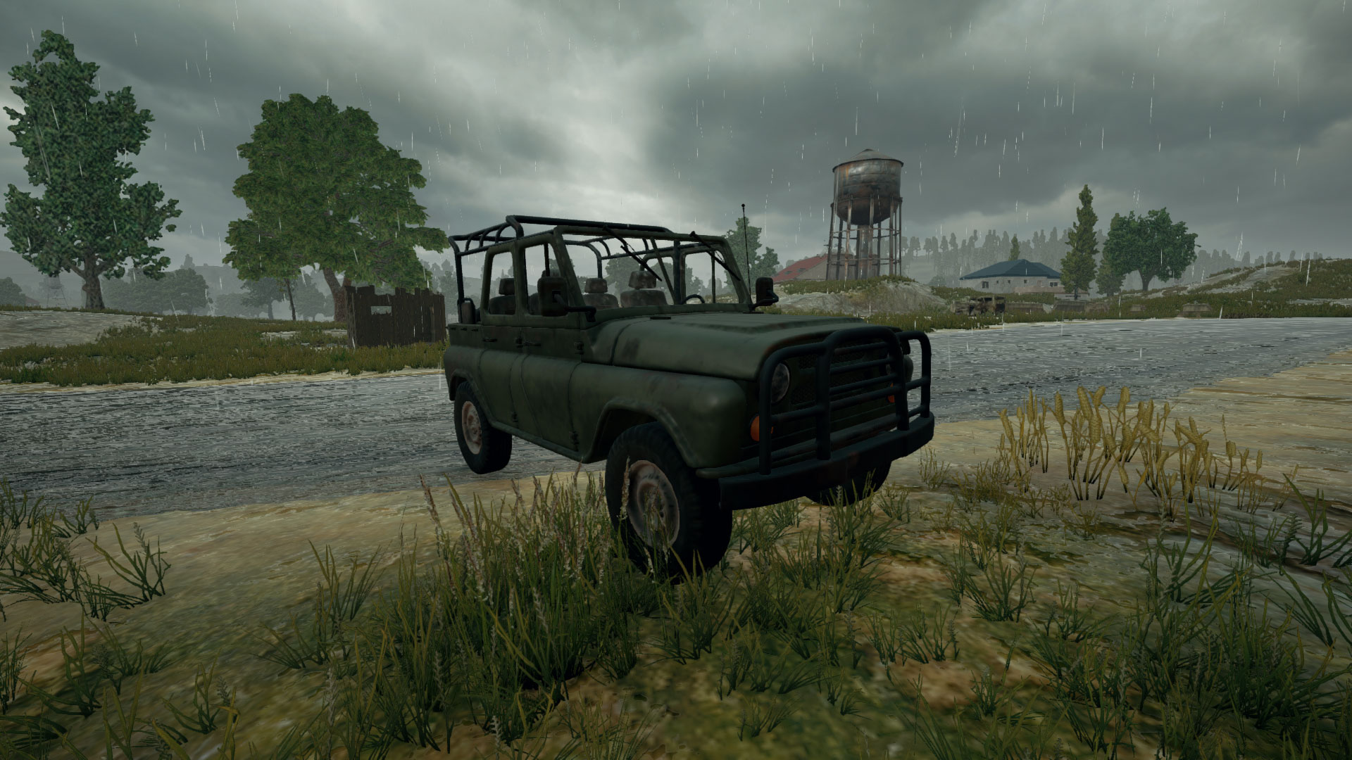 Picture of UAZ jeep Vehicle from PUBG.